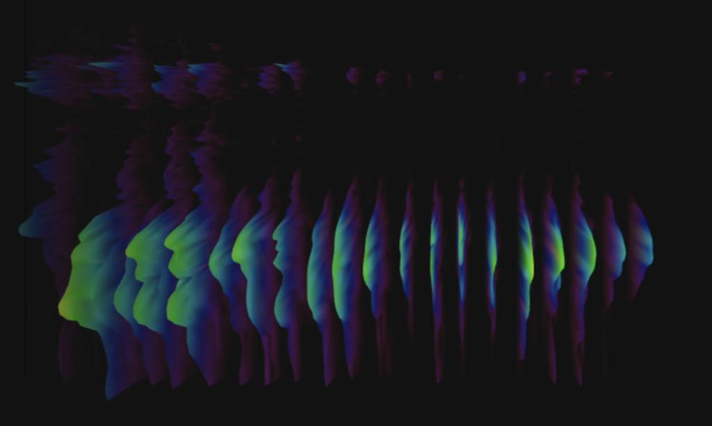 A 3-D Spectrogram visualizing sound